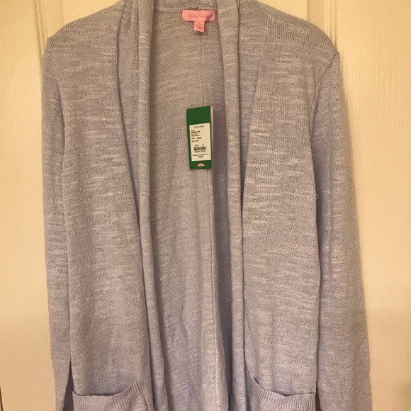 Lilly Pulitzer Ariela cardigan in Pearly Purple. NWT